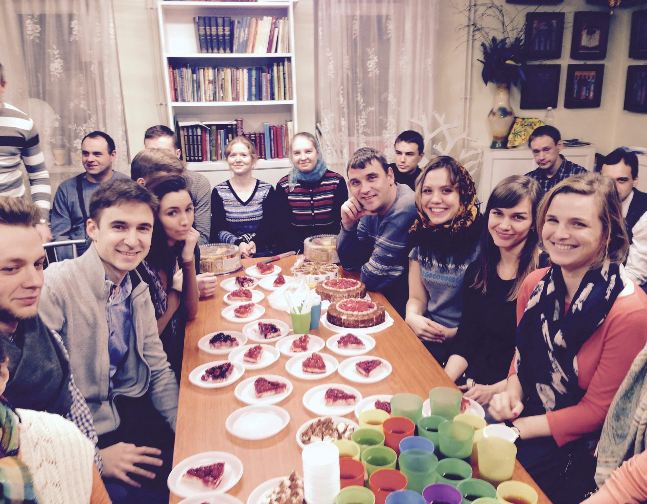 Встреча с молодежью клуба «Слава»