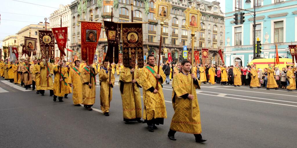 Крестный ход по Невскому проспекту 12 сентября 2017 года