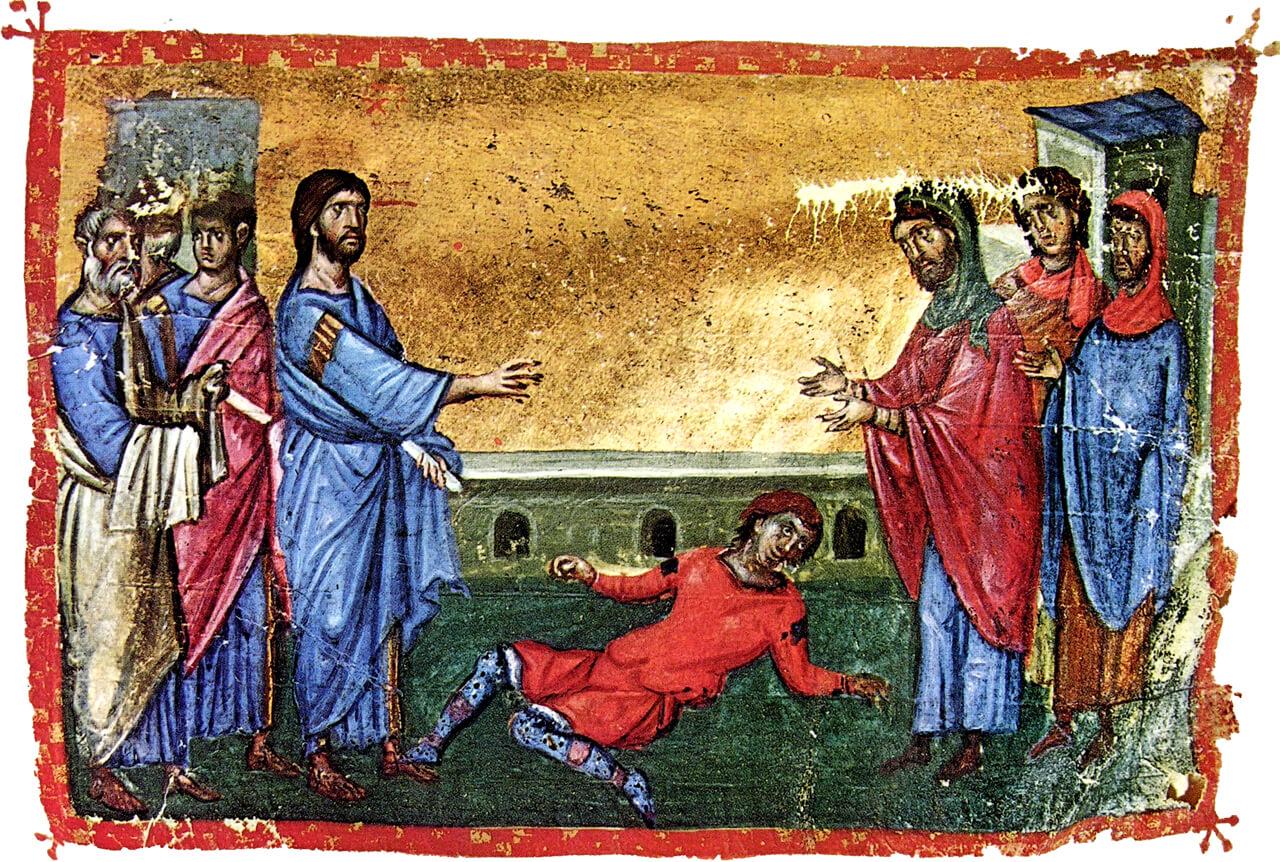 Исцеление бесноватого отрока (Мк., 40 зач., IX, 17-31)